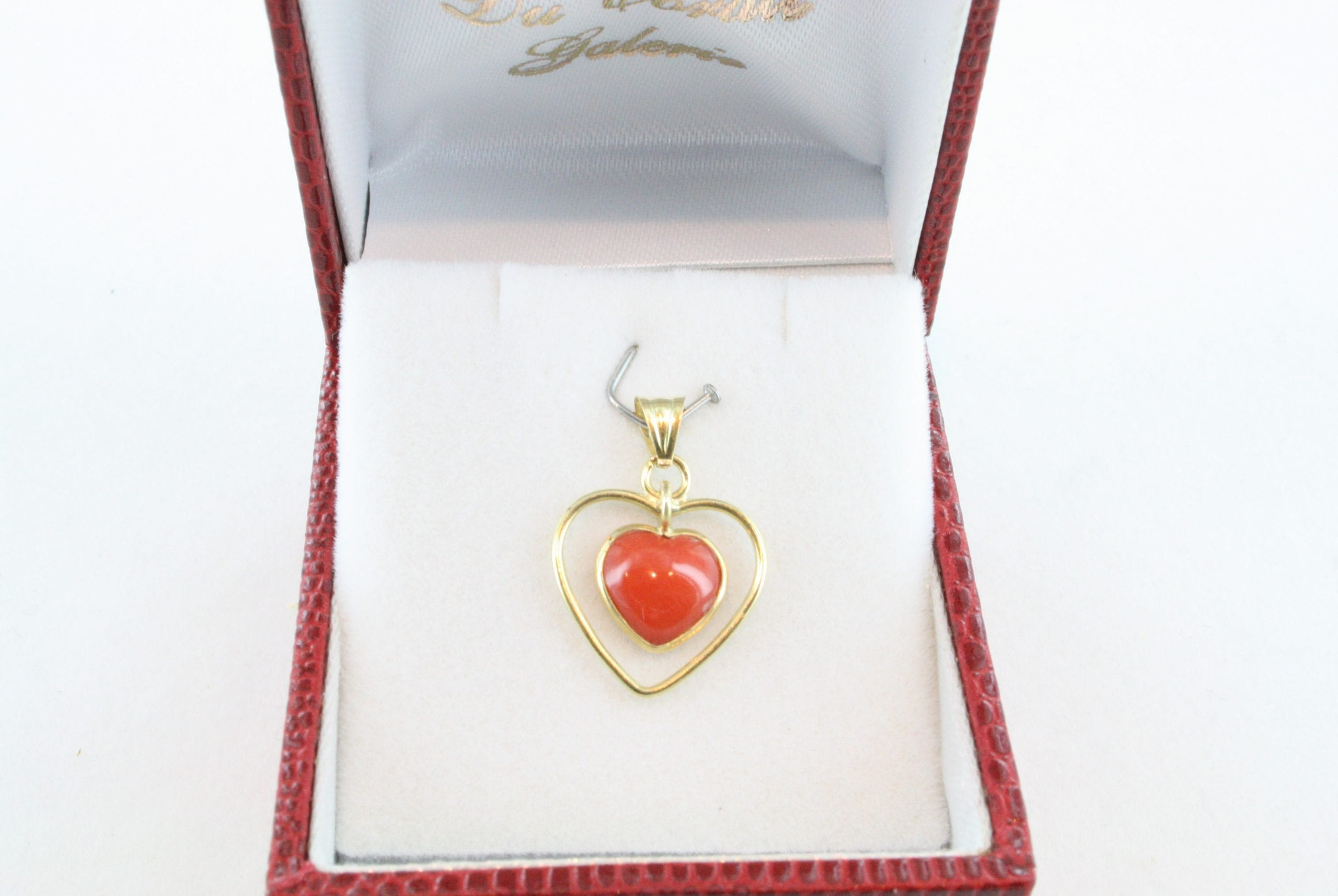 pendentif corail rouge et or PE-CO-OR-031