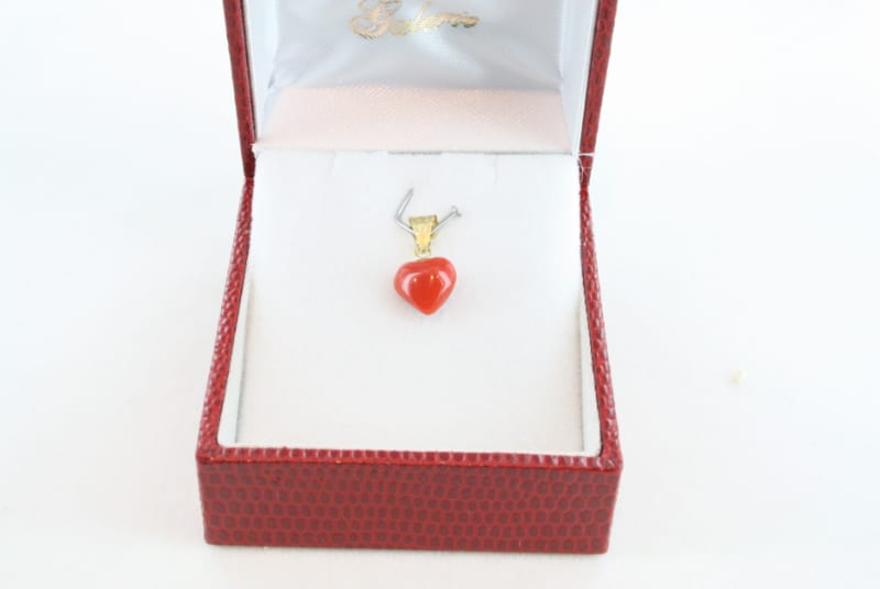 pendentif corail rouge et or PE-CO-OR-050