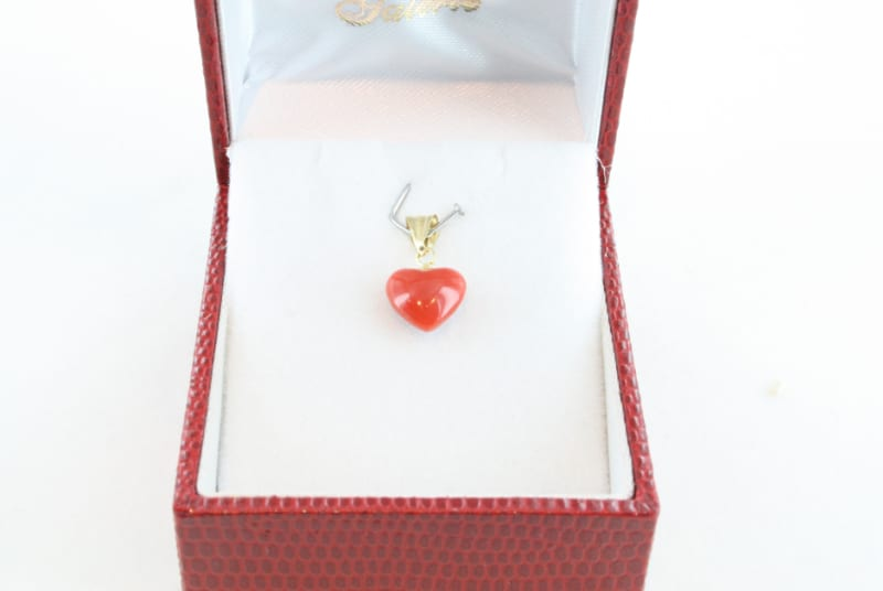 pendentif corail rouge et or PE-CO-OR-051