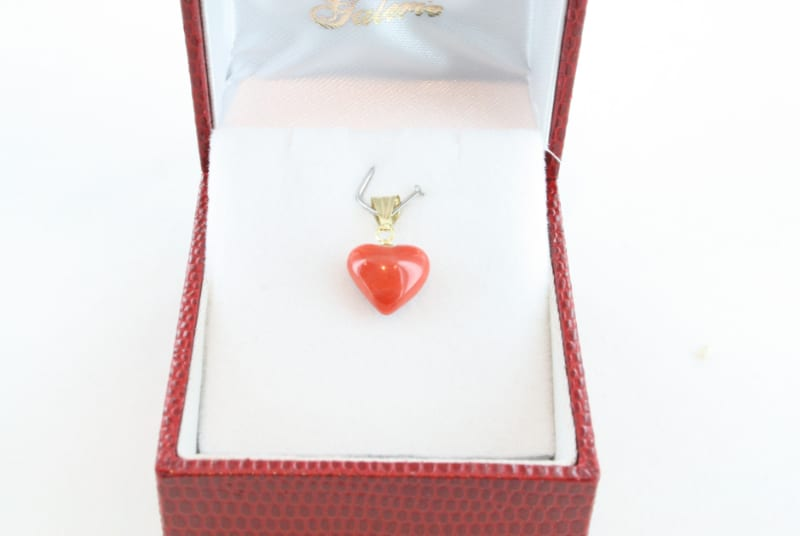 pendentif corail rouge et or PE-CO-OR-052