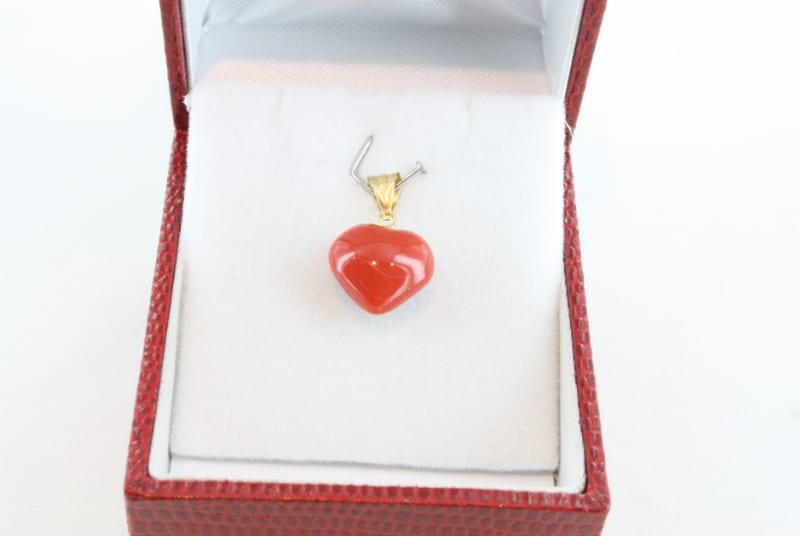 pendentif corail rouge et or PE-CO-OR-053