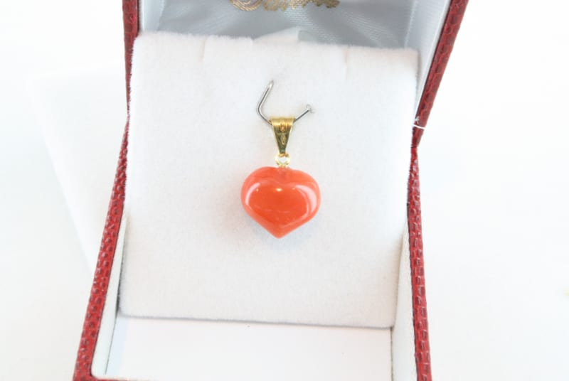 pendentif corail rouge et or PE-CO-OR-054