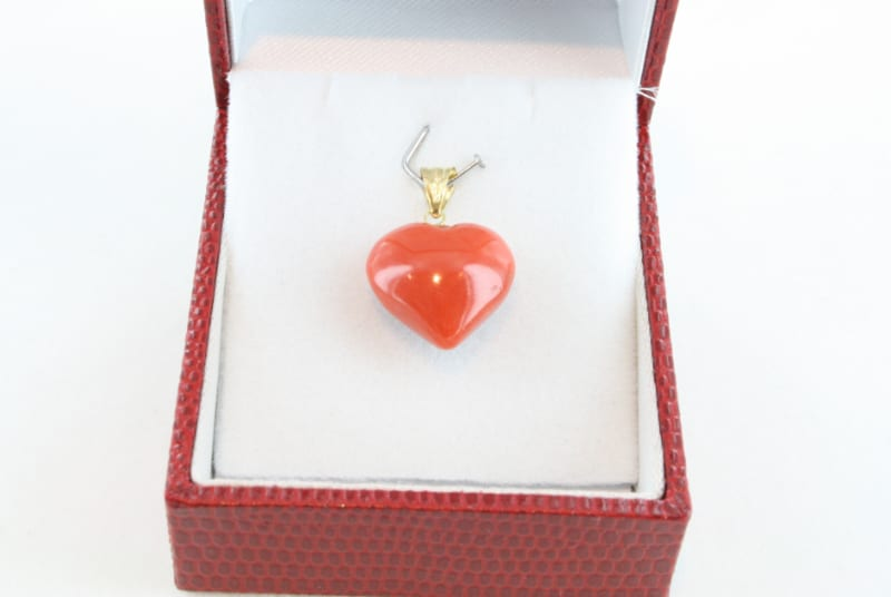 pendentif corail rouge et or PE-CO-OR-056